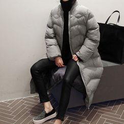 NANING9 - Zip-Up Long Padded Coat