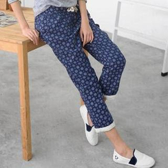 59 Seconds - Drawstring Pattern Pants