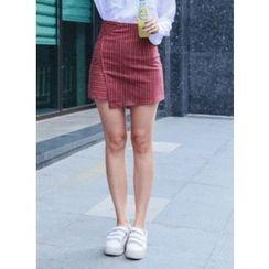 Vintage Vender - Layered Striped Mini Skirt
