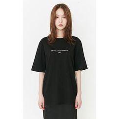 Someday, if - Short-Sleeve Lettering T-Shirt