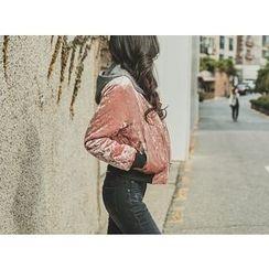UUZONE - Velvet Zip Jacket