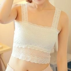 Coshield - Cropped Lace Camisole