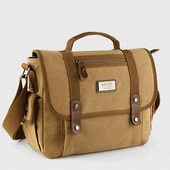 Moyyi - Set: Canvas Messenger Bag + Pouch