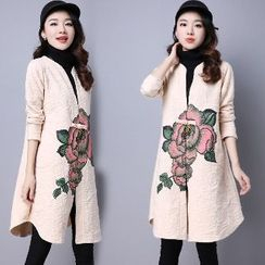 Splashmix - Printed Buttoned Long Cardigan