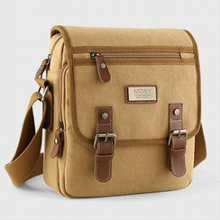 Moyyi - Set: Canvas Shoulder Bag + Pouch