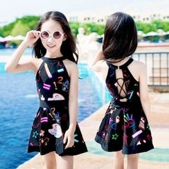 Mermaid's Tale - Kids Printed Swimdress