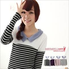 Maymaylu Dreams - Long-Sleeve Striped Top