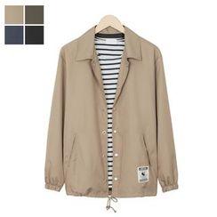 DANGOON - Drawstring-Hem Snap-Button Jacket