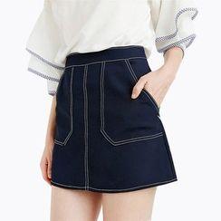 Obel - Stitch Detailed A-Line Skirt