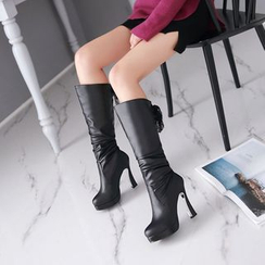Pretty in Boots - Heeled Tall Boots