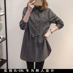 VIZZI - Striped Long Shirt