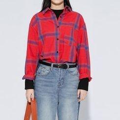 Heynew - Plaid Long-Sleeve Shirt