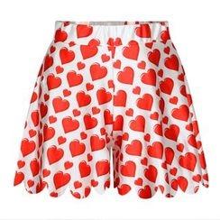 Omifa - Heart-Print Shorts