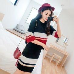Romantica - Set: Color-Block Top + Pencil Skirt