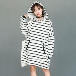 Dute - Striped Hoodie