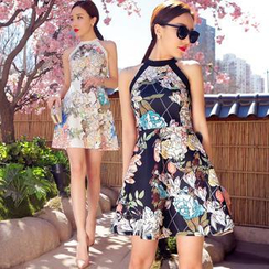 Tang House - Floral Sleeveless Dress