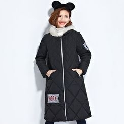 Clover Dream - Embroidered Applique Long Padded Coat