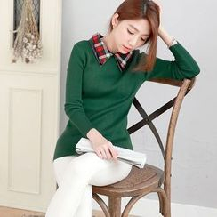 Tokyo Fashion - Collared Knit Pullover