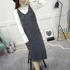 LOFT - Plain Ribbed Knit Tank Dress