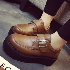 SouthBay Shoes - Buckled Platform Shoes