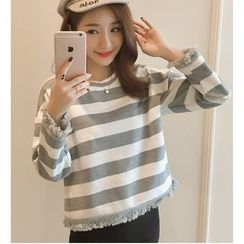 Dowisi - Striped Long-Sleeve Top