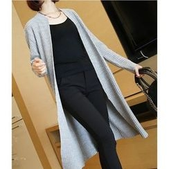 YIDIYU - Ribbed Long Cardigan