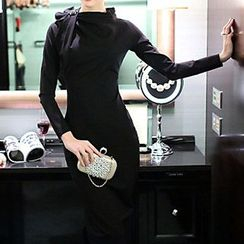 Dimanche - Long-Sleeve Sheath Midi Dress