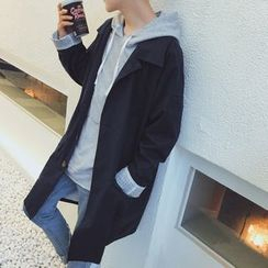 Dixon - Plain Long Trench Coat