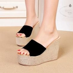 Mancienne - Slide Platform Wedge Sandals