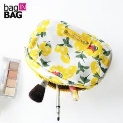 Bag In Bag - Lemon Print Cosmetic Bag
