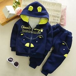 POMME - Kids Set: Cartoon Zip Hoodie + Sweatpants