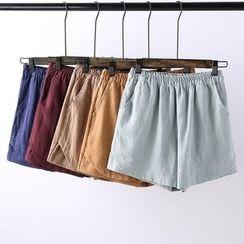 Heybabe - Plain Band Waist Shorts