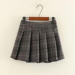 三木社 - 格子饰褶裙