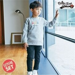 BILLY JEAN - Boys Set: Printed Brushed-Fleece Sweatshirt + Band-Waist Pants