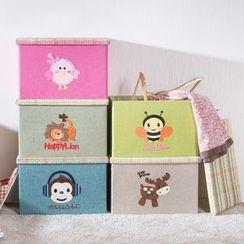 Home Simply - Foldable Animal Applique Storage Box