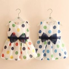 Seashells Kids - Kids Polka Dot Sleeveless Dress
