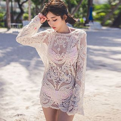 Roseate - Lace Swimsuit Cover-Up