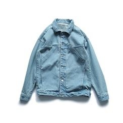 Chuoku - Lettering Denim Jacket