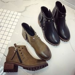 Hipsole - Studded Ankle Boots