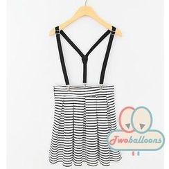 JVL - Suspender Stripe Skirt