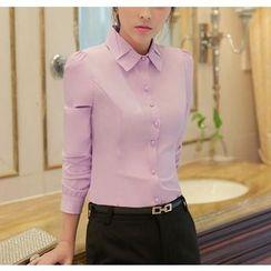 Brightful - Fleece Lined Long-Sleeve Shirt