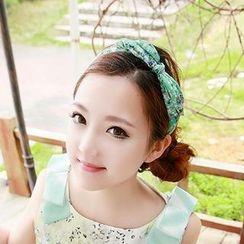 Avery - 印花蝴蝶結頭箍
