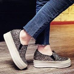 錦洋鞋業 - 閃閃厚底輕便鞋