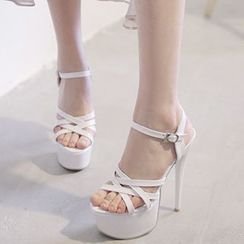 Sidewalk - Strappy Platform Stiletto Sandals