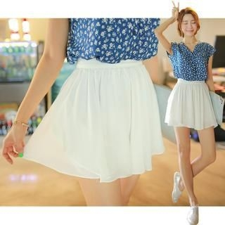 WITH IPUN - Chiffon A-Line Skirt