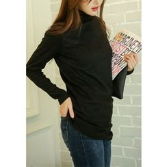 REDOPIN - Turtle-Neck Long Top