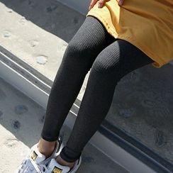 Seoul Fashion - Ribbed Leggings Pants
