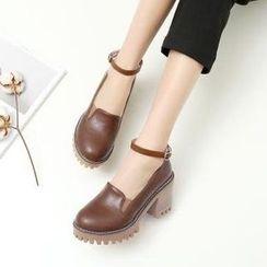Parkwalker - 踝带平跟鞋