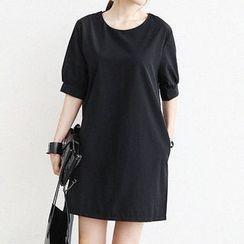 NANING9 - Puff-Sleeve Shift Dress