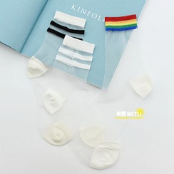 MITU - Striped Sheer Socks